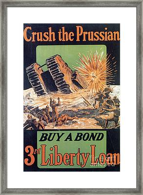 Wwi, 3rd Liberty Loan, 1917 Framed Print by Photo Researchers