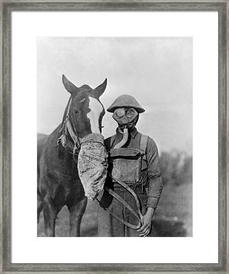 Wwi Gas Masks Framed Print by Otis Historical Archives, National Museum Of Health And Medicine