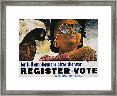 Wwii: Employment Poster Framed Print by Granger