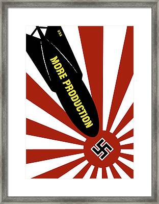 Wwii - More Production Bomb Framed Print by War Is Hell Store