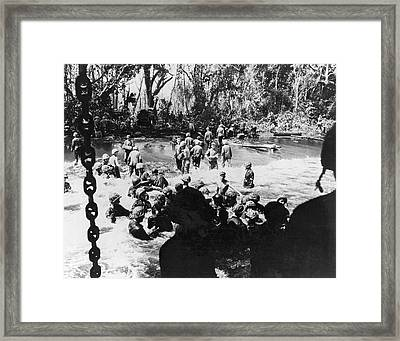Wwii Papua New Guinea Ops Framed Print by Underwood Archives