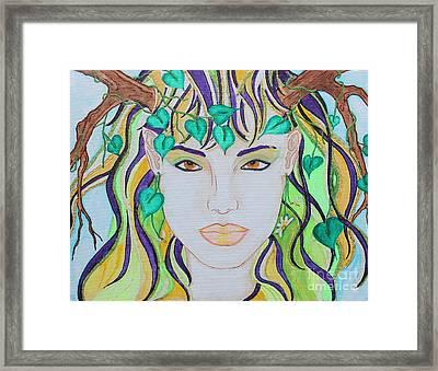 Wyld Spring Spirit Framed Print by Luanna Swaney