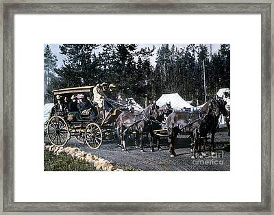 Wylie Coach Yellowstone National Park Framed Print by NPS Photo
