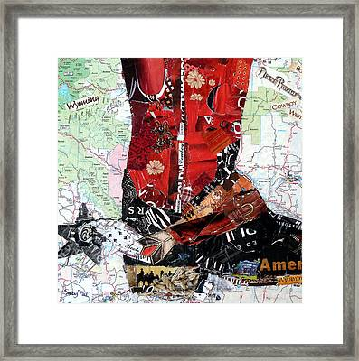 Wyoming Boot Framed Print by Suzy Pal Powell
