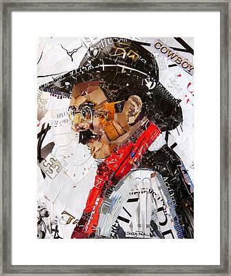 Wyoming Cowboy Framed Print by Suzy Pal Powell