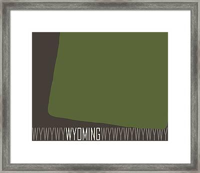 Wyoming State Modern Framed Print by Flo Karp