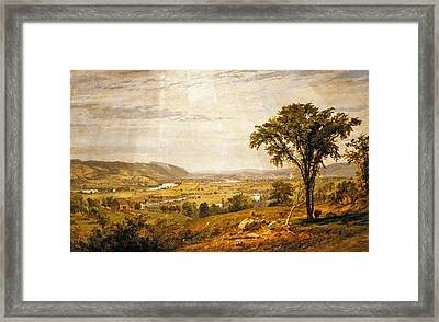 Wyoming Valley. Pennsylvania Framed Print by Jasper Francis Cropsey