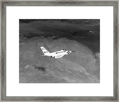 X-4 Bantam Experimental Aircraft Framed Print by Naca/nasa