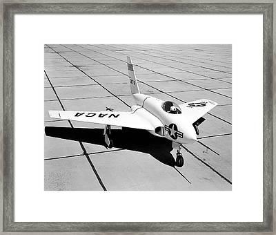 X-4 Bantam Experimental Aircraft Framed Print by Nasa Photo / Naca/nasa