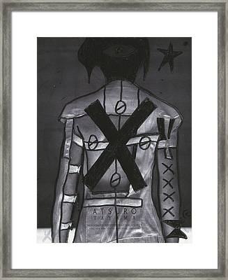 X Back Pop Graffiti Framed Print by Edward X