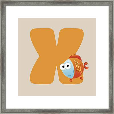 X Framed Print by Gina Dsgn