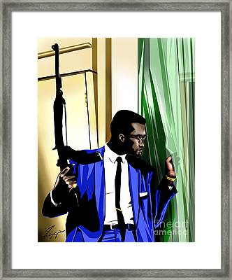 X - Somewhere Between Heaven Earth And Hell Framed Print by Reggie Duffie
