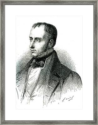 Xavier Bichat Framed Print by Collection Abecasis