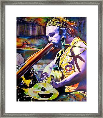 Xavier Rudd Framed Print by Joshua Morton