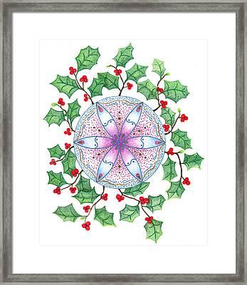 X'mas Wreath Framed Print by Keiko Katsuta