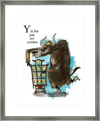 Y Is For Yak Framed Print by Sean Hagan