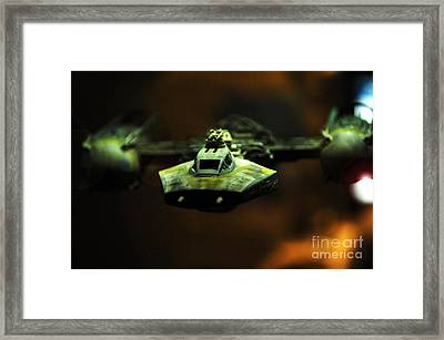 Y Wing Of Star Wars Framed Print by Micah May