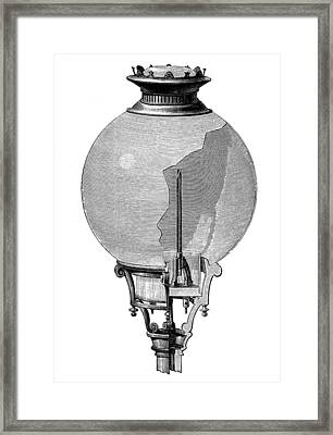 Yablochkov Candle Framed Print by Granger