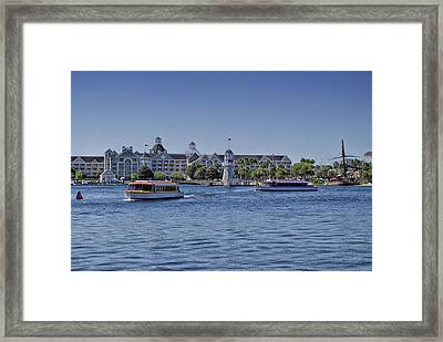 Yacht And Beach Club Walt Disney World Framed Print by Thomas Woolworth