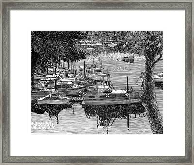 Port Orchard Yacht Club Cruise To Vashon Island Framed Print by Jack Pumphrey