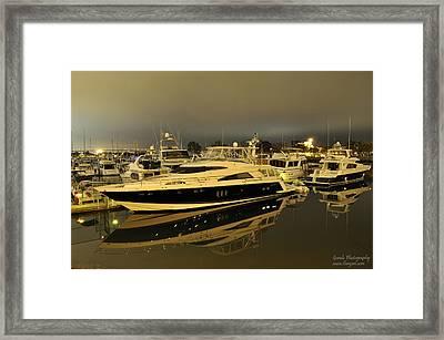 Yacht  Framed Print by Gandz Photography