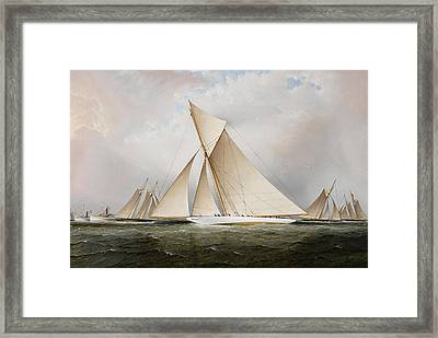 Yacht Framed Print by James Edward Buttersworth