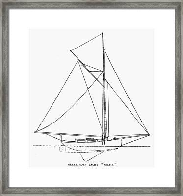 Yacht: Kelpie, 1882 Framed Print by Granger