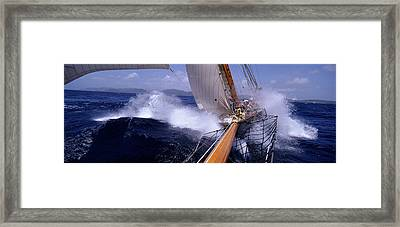 Yacht Race, Caribbean Framed Print by Panoramic Images