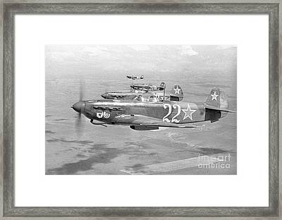 Yakovlev Yak-9 Fighters, 1942 Framed Print by Ria Novosti