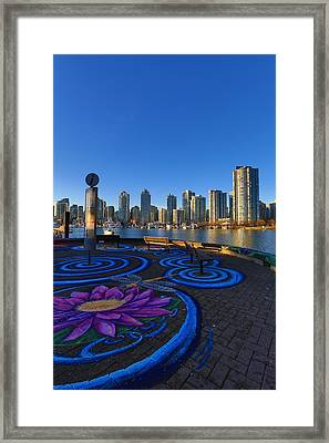Yaletwon And False Creek Vancouver Framed Print by Eti Reid