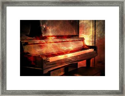 Yamaha Piano  Framed Print by Toppart Sweden