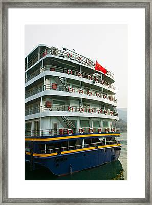 Yangtze River Cruise Ship, Yangtze Framed Print by Panoramic Images