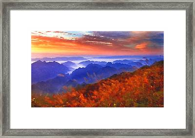 Yangtze River In Yunnan Framed Print by Lanjee Chee