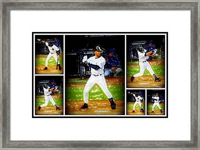 Yankee Captain Derek Jeter Framed Print by Aurelio Zucco