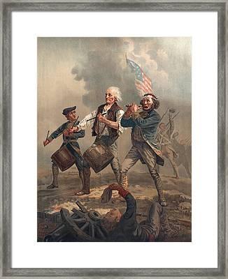 Yankee Doodle Or The Spirit Of 76, Published By J.f. Ryder After Archibald M. Willard Chromolitho Framed Print by Archibald Willard