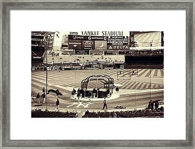 Yankee Stadium Framed Print by CD Kirven