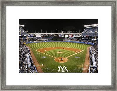Yankee Stadium Framed Print by Chuck Spang
