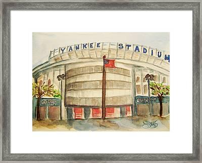 Yankee Stadium  Framed Print by Elaine Duras