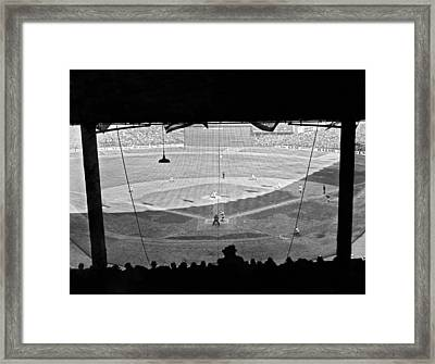 Yankee Stadium Grandstand View Framed Print by Underwood Archives