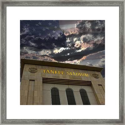 Yankee Stadium Ny Framed Print by Chris Thomas