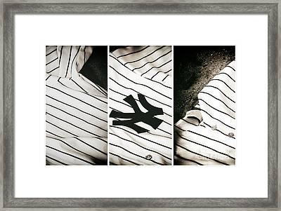 Yankees Panels Framed Print by John Rizzuto