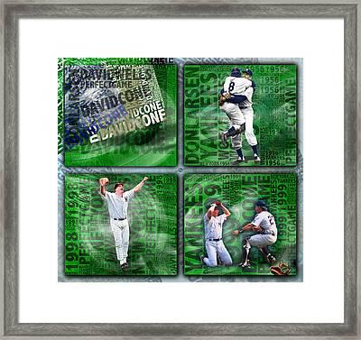 Yankees Perfect Game Combo Larsen Wells Cone Framed Print by Tony Rubino