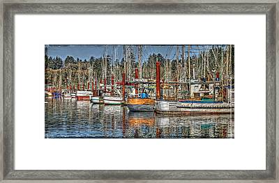 Yaquina Bay Fishing Boats Framed Print by Thom Zehrfeld