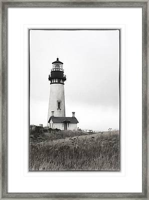 Yaquina Head Lighthouse Framed Print by Charrie Shockey