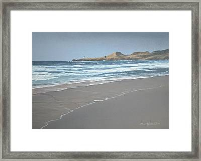 Yaquina Lighthouse Framed Print by Peter Mathios