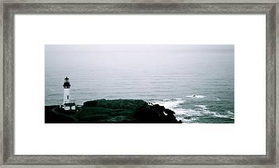 Yaquina Shores Framed Print by Sheldon Blackwell