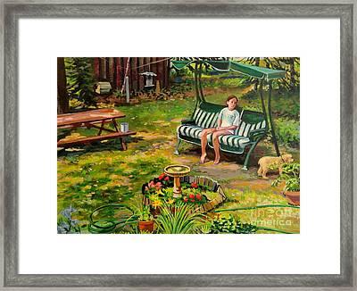 Yard Swing Framed Print by William Bukowski