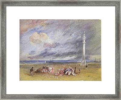 Yarmouth Sands Framed Print by Joseph Mallord William Turner