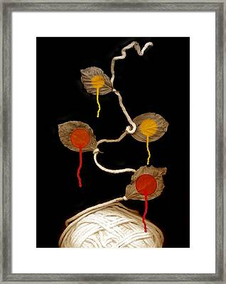Yarn Bloom Framed Print by Johan Lilja