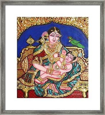 Yashoda Holding Gopala Framed Print by Jayashree